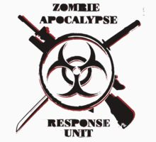 Zombie Apocalypse Response Unit (Official T-Shirt) by MookHustle