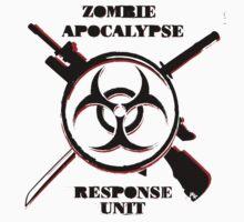 Zombie Apocalypse Response Unit (Official T-Shirt) T-Shirt