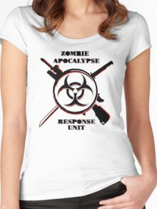 Zombie Apocalypse Response Unit (Official T-Shirt) Women's Fitted Scoop T-Shirt