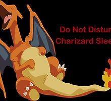 Sleeping Charizard Do Not Disturb by Denerin