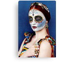Sophie Turner Day of the Dead, Dia de los Muertos, Makeup Canvas Print