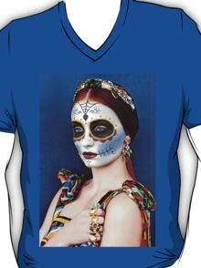 Sophie Turner Day of the Dead, Dia de los Muertos, Makeup T-Shirt