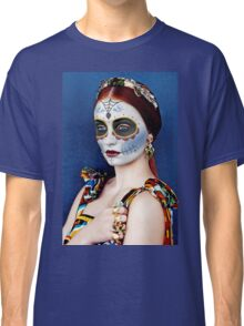 Sophie Turner Day of the Dead, Dia de los Muertos, Makeup Classic T-Shirt