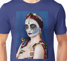 Sophie Turner Day of the Dead, Dia de los Muertos, Makeup Unisex T-Shirt