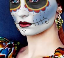 Sophie Turner Day of the Dead, Dia de los Muertos, Makeup Sticker