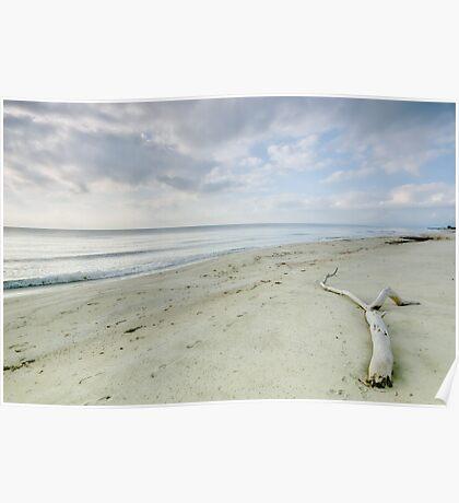 A peaceful morning at Casabianda beach - Corsica Poster