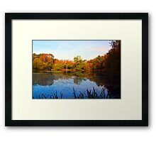 Yateley Common Lake Framed Print
