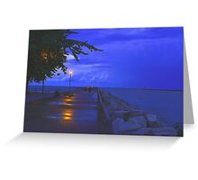 Evening Stroll After The Storm Greeting Card