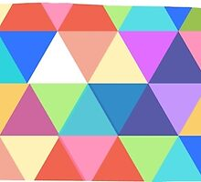 Tennessee Colorful Triangles Hipster Geometric Nashville  by CorrieJacobs