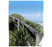 Walking Track Fence Byron Bay N.S.W  Australia Poster