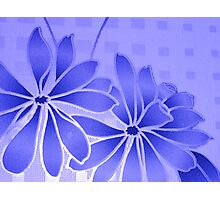 flowery blue Photographic Print