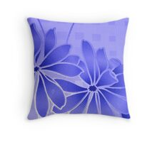flowery blue Throw Pillow