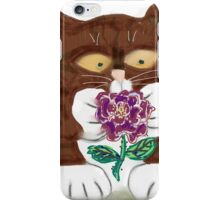 Purple Rose and Kitten iPhone Case/Skin