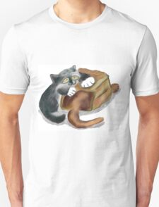 Paper Bag and Two Kittens Unisex T-Shirt