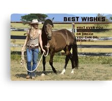 BEST WISHES Canvas Print