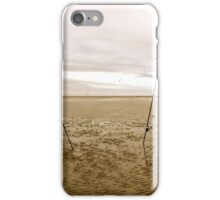 Fishing  rods at low tide  iPhone Case/Skin