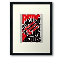 Red And Anarchist Skinhead Framed Print