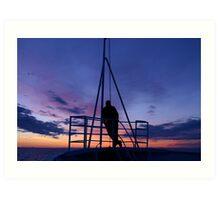 Arctic Sunset Art Print