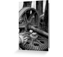 Crane Gears Greeting Card