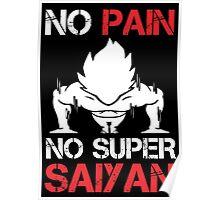 No Pain No Super Saiyan - Funny Tshirts Poster