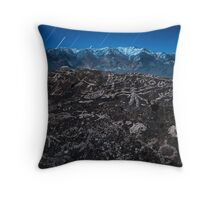Owens Valley Petroglyphs by Moonlight Throw Pillow