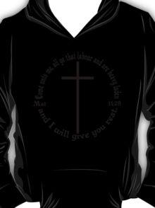 MATTHEW 11:28 circular T-Shirt