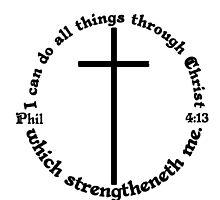 PHILIPPIANS 4:13 circular by Calgacus