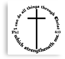 PHILIPPIANS 4:13 circular Canvas Print