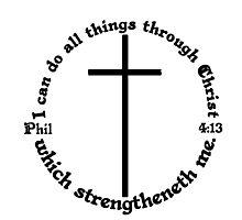 PHILIPPIANS 4:13 circular Photographic Print