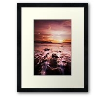 Chocolate Diving Board Framed Print