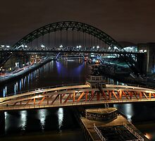 Spanning the Tyne by Richard Shepherd