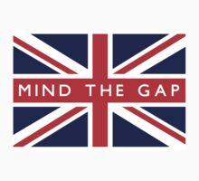 Mind The Gap UK Flag by ukedward