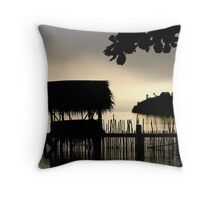 Tropical Morning Mist Throw Pillow