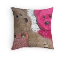 Beary Best Friends Throw Pillow