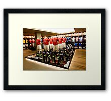 Champions League Display, Nike Town, London Framed Print