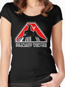 Project Voltes Dev Team Tee (White Text) Women's Fitted Scoop T-Shirt
