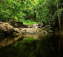 Stony Creek in Cairns, Queensland by groophics
