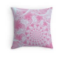 Soft Spiral In Pink Throw Pillow