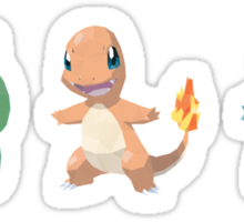 [Sticker] Pokemon Low Poly - 1st Gen Starters Sticker