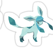 [Sticker] Leafeon Glaceon Sylveon Low Poly Sticker