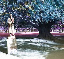 Statue in Kings Gardens Copenhagen by Writhe