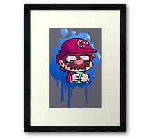 Mario & Gameboy Framed Print