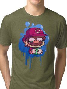 Mario & Gameboy Tri-blend T-Shirt