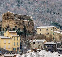 Snow on Provence village by Patrick Morand
