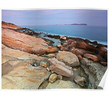 Peaceful dusk at Bau Rouge beach in Provence Poster