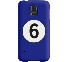 6, Sixth, Number Six, Number 6, Racing, Six, Competition, on Navy Blue Samsung Galaxy Case/Skin