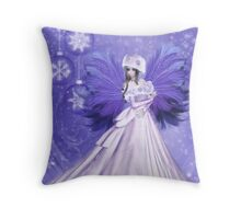 Winter Frost Fairy Throw Pillow