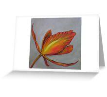 Orange Orchid Greeting Card