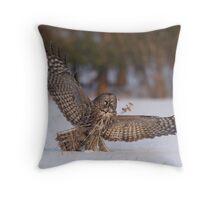 Great Gray Hunter Throw Pillow