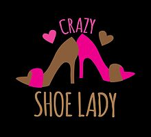 Crazy Shoe Lady by jazzydevil